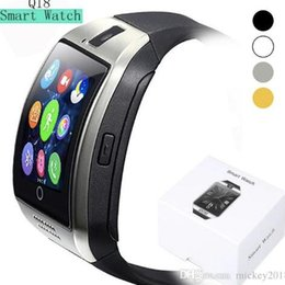mini smart watch phone Australia - Bluetooth Smart Watch Q18 Mini Camera smart wristband For For Iphone 8 X Android Samsung Smart Phones GSM SIM Card Touch Screen Free Ship