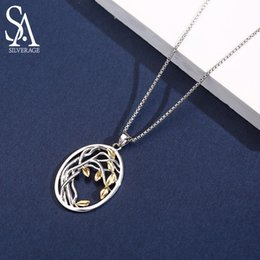 $enCountryForm.capitalKeyWord Australia - Sa Silverage 925 Sterling Silver Tree Of Life Pendant Necklaces For Women Gold Color Silver Long Maxi Chain Necklace Chokers SH190723