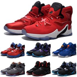 sale retailer bd522 8a7cd Cheap New Lebron 13 XII kids basketball shoes Doernbecher DB BHM Christmas White  Red Black Halloween Easter Easter Kids sneakers for sale