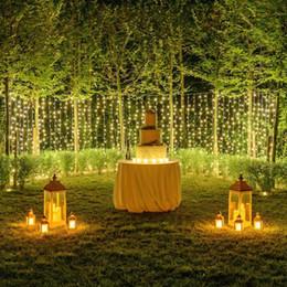 Ice Ornament Australia - Curtain Lights Christmas Lights 10*2m 8*2m 6*2m 4*2m 3*2m Led Lights Christmas Ornament Lamp Flash Colored Fairy Wedding Decor EU US UK AU
