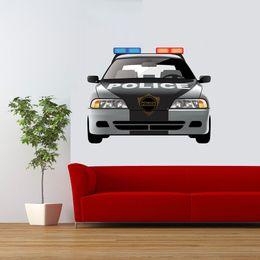$enCountryForm.capitalKeyWord Australia - Police Car Sticker With Emergency Vehicle Sign Young Bedroom Vinyl Accessories Decorative Cartoon