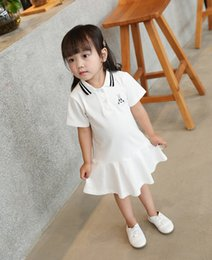 $enCountryForm.capitalKeyWord Australia - Summer Short Sleeve Dress For Girl Baby Cotton Princess Dress For Girls Cute Pattern Decor Summer Dresses New