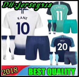 910492d1e26 18 19 KANE spurs kids Soccer Jersey 2018 2019 Soccer Jerseys LAMELA ERIKSEN  DELE SON Away blue Lamela child Football shirt