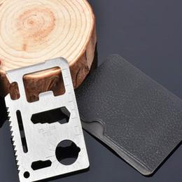 $enCountryForm.capitalKeyWord Australia - Multi Tools 11 in 1 Multifunction Outdoor Hunting Survival Camping Pocket Military Credit Card Knife Silver BLACK ST055