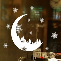Discount christmas stickers windows decorations - Christmas Snow Wall Stickers Christmas Snow Decoration Bedroom Wall Stickers For Home Wallpaper PVC Wallpaper Window Dec
