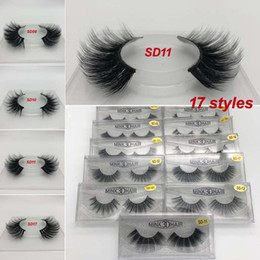 Lashes Individual False Eyelashes Australia - 3D Mink False Eyelash 100% Real Siberian Full Strip Fake Eyelash Long Individual Soft Natural Thick Eyelashes Mink Lashes Extension 17styles