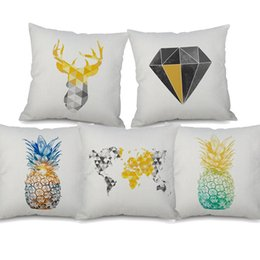 $enCountryForm.capitalKeyWord NZ - Nordic Retro Vintage Geometric Diamond Plaids Cushion Covers Deer Pineapple Cushion Cover Sofa Throw Decorative Linen Cotton Pillow Case