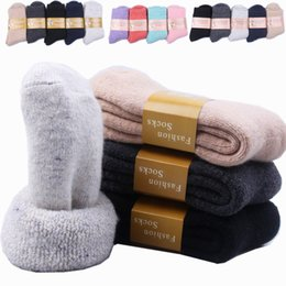 9650dc2d84a New Winter Men And Women Cashmere Socks Super Thickened Warm Wool High Tube  Pure Color Towel Socks Wholesale 5pair lot