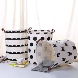 $enCountryForm.capitalKeyWord Australia - DHL SHIP Toy Storage Basket Bucket Children Room Organizer Folding bag with handle Clothing Laundry Basket Storage Organizer Basket Bag NEW