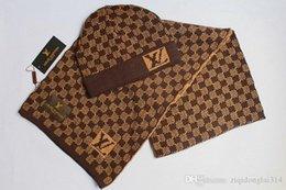 HigH end art online shopping - High Quality Men And Women Designer Hat Scarf Sets Warm European High end Hats Scarves Sets Brand Hat Scarf Fashion Accessories