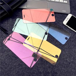 iphone screens Australia - Colorful Mirror Tempered Glass Screen Protector for iPhone X Xr Xs Full Cover Big Windows for iPhone 6 7 8 033