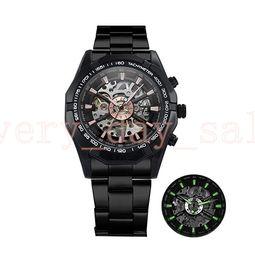 Watch 45mm Australia - Winner Watch Men 45mm Skeleton Automatic Mechanical Watch Gold Skeleton Vintage Man Watches Mens FORSINING Watch Top Brand Luxury 116610