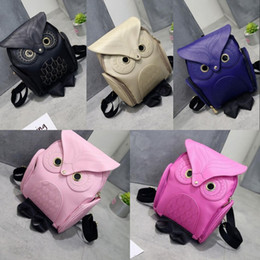 $enCountryForm.capitalKeyWord Australia - Cute Owl Fashion PU Leather Backpacks Cartoon Women Backpack Softback School Bags Teenage Backpacks for Girls