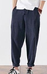 70bc87f45112 UNISEX blu / nero / caffè di alta qualità lino uomini tang suit pantaloni  di arti marziali laici meditazione kung fu pantaloni tai chi bloomers