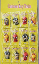 $enCountryForm.capitalKeyWord Australia - 2019 Fashion The Avengers Hero Anime Keyring Spiderman 3D Silicone Keychain Captain Cartoon Keychain Child Gifts