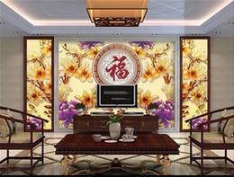 $enCountryForm.capitalKeyWord Australia - custom size 3d photo wallpaper living room bed room mural orchid color carving Chinese picture sofa TV backdrop wallpaper non-woven sticker