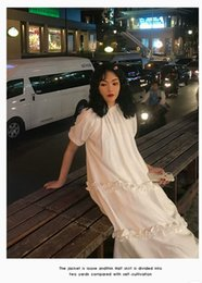 White Chiffon Maxi Summer Dresses Australia - Short-sleeved French white chiffon cake dress ragmented cake skirt,multi-level long dress,Summer fairyand,retroclassical ang swee