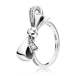 $enCountryForm.capitalKeyWord Australia - 2018 New Silver Charms Diy Big Bow Crystal Round Rings Fit Women Ring Jewelry R183