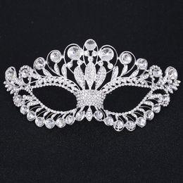 $enCountryForm.capitalKeyWord Australia - 2019 New Half face Masquerade mask for women party jewelry accessories crystal girls Halloween Christmas rhinestones