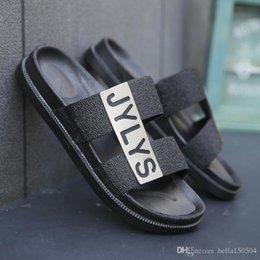 $enCountryForm.capitalKeyWord Australia - European Brand Summer Slippers designer sandals Men Breathable Beach Flip Flops Casual Slip-on Flats Sandals Men Shoes good quality
