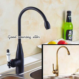 $enCountryForm.capitalKeyWord Australia - oil rubbed bronze black   antique brass kitchen faucet hot and cold water