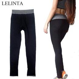 Sport Pants Wholesale NZ - LELINTA Women's Leggings Fitness Sport Pants Gray Breathble High Waist Workout Black Sportswear Yoga Leggings K4091