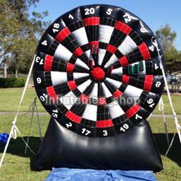 Frete grátis ! Bomba Grátis! Placa de dardo inflável super de 2m / 3m / 4m / 5m / 6m, jogos de mesa infláveis do dardo do futebol, jogo exterior venda por atacado