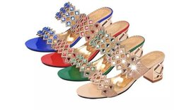 Springs Fashion Heels Australia - Spring and summer fashion Chunky Heels Sandals new women's shoes slippers leisure beach ladies sandals Chunky Heels slippers size 35-41