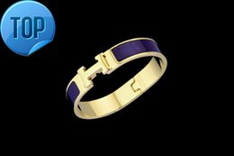 Jade Coral Beads Australia - 2019 High Celebrity design Letter Metal Buckle bracelet Fashion Metal Clover Cuff Bracelets Gold Jewelry With Box