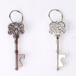 $enCountryForm.capitalKeyWord NZ - Vintage Bottle Opener Keychain Portable Key Shape Metal Beer Opener Creative Retro Mini Crown Keyring Kitchen Tools TTA1361