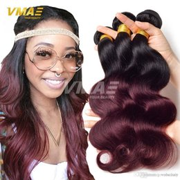 $enCountryForm.capitalKeyWord NZ - On Sale Ombre Hair Bundles Brazilian Virgin Hair Body Wave Bundles Ombre Human Hair Weave Two Tone 1b Burgundy Ombre Brazilian