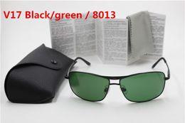 $enCountryForm.capitalKeyWord Australia - Fashion Rectangle Sunglasses For Men Women Eyewear Sun Glasses UV Protection Black Green 64mm Glass Lenses With Box Cases low price
