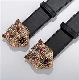 $enCountryForm.capitalKeyWord NZ - 2018 Brand designer belt mens senior tiger head belts new fashion casual cowhide belts for men waist belts High quality and low price.