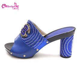 $enCountryForm.capitalKeyWord Australia - New Arrival Blue Color Italian Design Women Shoe High Quality Slip on Summer Slipper Shoes Sexy Lady High Heels Shoes for Party