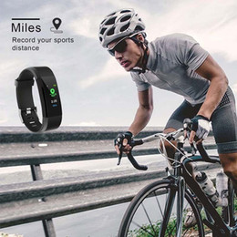 Discount screen for android - Pedometers Colorful Display Screen Waterproof Heart Rate Tracker for Android IOS