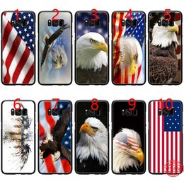 $enCountryForm.capitalKeyWord NZ - Eagles Flag of United States American Soft Black TPU Phone Case for Samsung Note 9 8 S8 S9 Plus S6 S7 Edge Cover