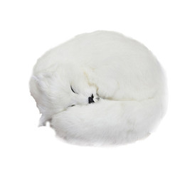 Girlfriends Gift Cat Australia - high simulation fox White fox Toy fairy Sleeping fox cute animal for girl girlfriends creative gift desktop car Deco 27x27x12cm DY80042