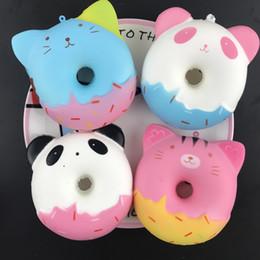 $enCountryForm.capitalKeyWord Australia - lowprice Squishy 10cm Kawaii Gift Soft Panda Cat Doughnut Jumbo-Squishy toy Cute Phone Straps Slow Rising Squishies Donut toy Keychain