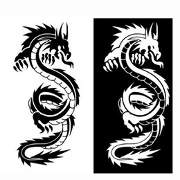 cartoon chinese dragons NZ - 1PC Chinese Mythical Dragon Creative Car Styling Decorative Vinyl Car Sticker