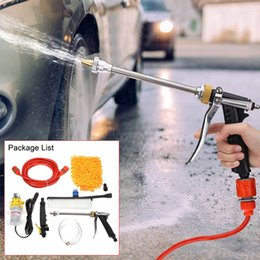 pressure pump car wash machine Australia - 12V Car Washer Guns+Pump+Hose+Nozzle High Pressure Cleaner Car Care Auto Portable Electric Washing Machine Garden Water Guns