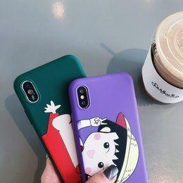 $enCountryForm.capitalKeyWord Australia - Apple mobile phone shell Japanese cartoon lanyard small ball iPhoneXS max mobile phone soft shell 6 7 8plus applicable protective cover