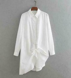 New desigN lady skirt online shopping - 19ss Explosion models summer new European and American Australian lace design shirt skirt long lazy white shirt ladies
