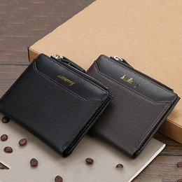 card holder wholesale NZ - Black Purse For Men PU Men's Wallets Thin Male Wallet Card Holder Mini Purses