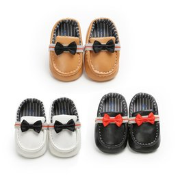 Fancy Dress Fabrics Australia - 2019 Brand New Fancy Infant Baby Boy PU Leather Soft First Walker Shoe Prewalker Crib Shoe