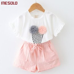 $enCountryForm.capitalKeyWord NZ - good quality 2019 han edition of children's clothing wholesale ice cream short sleeve T-shirt + shorts two suits K1870 of the girls