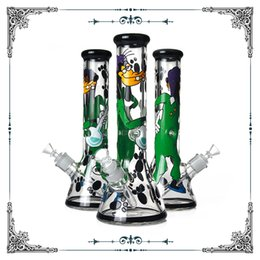 $enCountryForm.capitalKeyWord Australia - Cartoon Art Glass Beaker Bong 9MM Thick Glass Water Pipe Smoking Hookah Pipes Heady Glass Wholesale In Stock Free Shipping