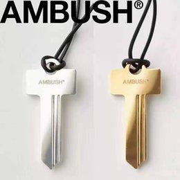 $enCountryForm.capitalKeyWord Australia - 925 Sterling silver material AMBUSH NOBO KEY PENDANT necklace Height Quality Men Women Hip Hop AMBUSH Streetwear Accessories Key Necklace