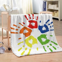 $enCountryForm.capitalKeyWord Australia - Dropship Custom DIY Color Printing Blanket for Beds Paisley Thin Quilt Sky Blue Mandala Bedspread 120x150cm Fleece Throw Blanket