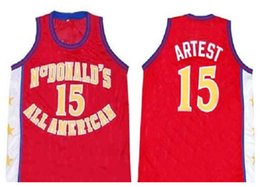 c060b8a71476 McDonald s All American Ron Artest  15 Retro Basketball Jersey Mens Stitched  Custom Any Number Name Jerseys