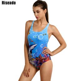 5ca065f65dafc Riseado Sport 2019 One Piece Swimsuit Competitive Swimwear Women Swimming  Suit Digital Printing Racer Back Bathing Suits Y19052101